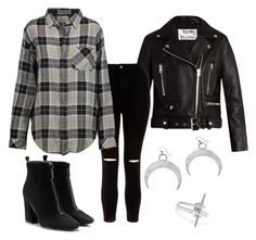 """""""Untitled #29"""" by le-crow on Polyvore featuring Acne Studios, New Look, Noir Jewelry and Current/Elliott"""