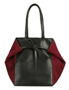 Nubuck Leather Splicing Contrast Color Shouder Bag - Bags - Bags & Accessories
