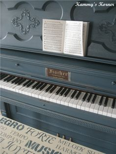 I am dying to refinish my piano...love this color!