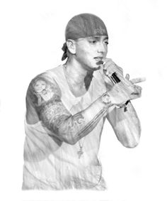 eminem graffiti | photo illustration of eminem by gluekit created for new york magazine ...