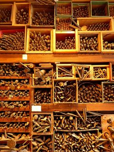 Gold leaf finishing tools and press at Canterbury Bookbinders, Canterbury, Kent by Paul Anthony Moore, via Flickr
