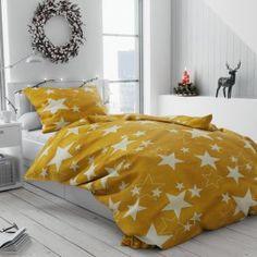 Bavlněné povlečení bílé žluté oranžové hvězdy hvězdičky vánoční moderní vánoce Comforters, Blanket, Stars, Retro, Bed, Products, Creature Comforts, Quilts, Stream Bed