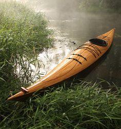 Cedar Strip Wood Kayak - Justin Charles