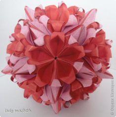 Master class Handicraft product Kusudama Terry Kusudama flower and MK Photo Paper 1