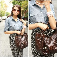 Clarabella: Chambray and leopard