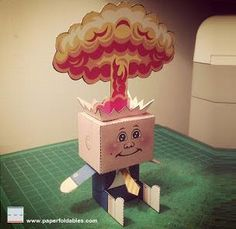 Garbage Pail Kids - Adam Bomb Paper Toy - by Paper Foldables