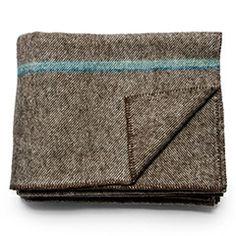 Maine Wool Blanket (Indigo Stripe)