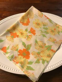 A personal favorite from my Etsy shop https://www.etsy.com/listing/541778733/vintage-sheet-fat-quarter-orange-and