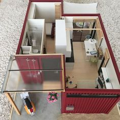 Awesome Genius Shipping Container Home Design Ideas Container Van, Cargo Container Homes, Building A Container Home, Storage Container Homes, Container Buildings, Container Architecture, Container House Design, Tiny House Design, Storage Containers