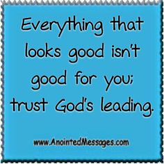 Anointed Message Wed 9/24/14: It may look good but...