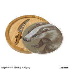 badger cheese board round cheeseboard