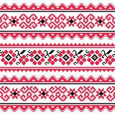 Ukraine style fabric pattern vector 04