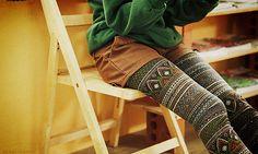 Patterned leggings #winter #boho I want these leggings so bad