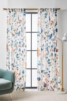 Layne Velvet Curtain by Anthropologie in White, Curtains Dining Room Curtains, Home Curtains, Modern Curtains, Office Curtains, White Bedroom Curtains, Slider Curtains, Curtains Living, Floral Curtains, Velvet Curtains