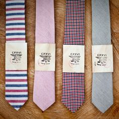 These ties make the perfect edition to the Groom and Groomsman's attire  for a garden wedding.