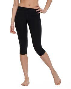Black crop legging