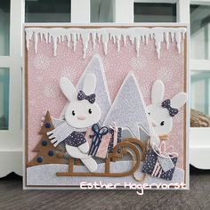 Marianne Design, Baby Bunnies, Cute Cards, Bunny Rabbit, Toy Chest, Storage Chest, Stencils, Christmas Cards, Design Inspiration