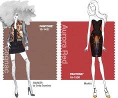 Pantone Fall 2014: Aurora Red and Cognac