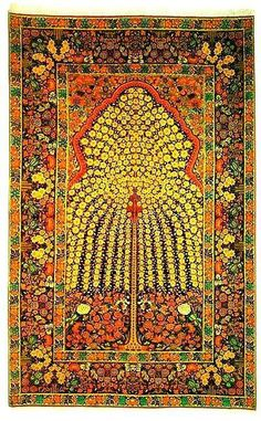 Tree of life Persian carpet, Kerman