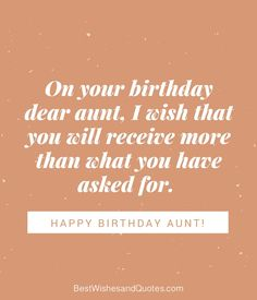 Happy Birthday Wishes Aunt Happy Birthday Wishes Aunt, Happy Birthday Messages, Birthday Cards, Something Sweet, Birthdays, Cards Diy, Thoughts, Sayings, Words