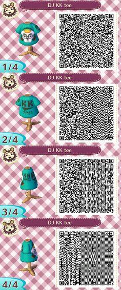 DJ K.K. t-shirt Animal Crossing New Leaf QR Codes