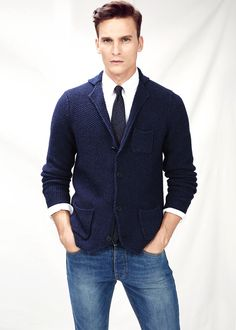 84644d91d2ed03 Chunky knit wool-blend cardigan - Men