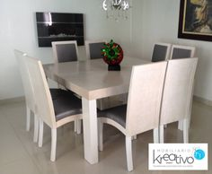 Comedor cuadrado Ideas Para, Dining Table, House Design, Furniture, Home Decor, Kitchen, Home, Homemade Home Decor, Dinning Table Set