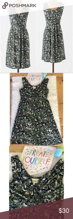 """EUC Anthro Porridge Abstract Woody Nymph Dress Still in excellent pre-loved condition dress from Anthropologie in size medium. Really flattering with lots of stretch. Pockets on the side. Measure about 38"""" length , 15"""" waist, 24.5"""" from waist to bottom, 16"""" pit to pit. 95% rayon/5% Lycra. Not fading or pilings. ❌no trades or modeling. Open to reasonable offers. 15% off bundle.Thank you‼️ Anthropologie Dresses Mini"""