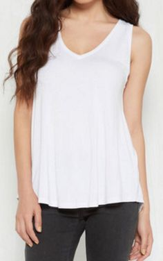 casual loose-fit white tank