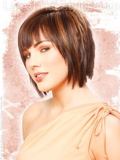 Medium Haircuts with Bangs for Round Faces | ... cut with bangs perfect for rounder face shapes or heart shaped faces