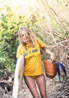 Costa Rica, surfing, Camille Rowe, beach style / Garance Doré #summer #sun #beach #fun #cool #sexy #hair #girl #spirit #energy #playful Inspiration Jean Louis David