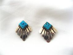 Vintage Turquoise Earrings by DelicateCreations on Etsy