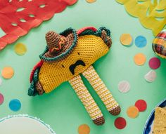 crochet taco free amigurumi pattern - Pattern has disappeared from the net, it has become simply inspiration.