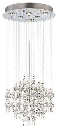 """Contemporary Venris 19"""" Wide 12-Light Crystal Chandelier - Lamps Plus"""