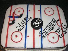 Hockey Rink Birthday Cake