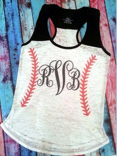 Personalized Monogrammed Baseball - Burnout tank and heat transfer materials, create yours today. Baseball Girlfriend, Baseball Mom Shirts, Softball Mom, Baseball Games, Baseball Tank, Softball Stuff, Baseball Stuff, Team Mom, Sports Mom