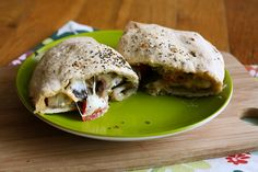 Eggplant and Goat Cheese Calzone @ How to Ice a Cake