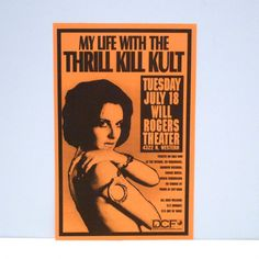 My Life with The Thrill Kill Kult Poster Vintage In Concert