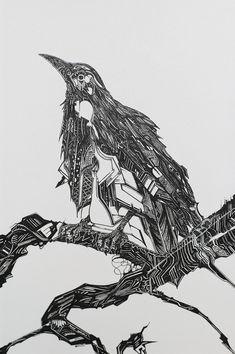 crOw Illustration by George Birch, via Behance
