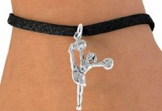 High-Kick Cheerleader Charm Bracelet
