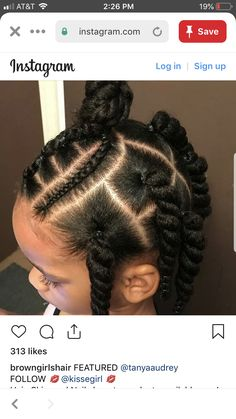 Lil Girl Hairstyles, Girls Natural Hairstyles, Natural Hairstyles For Kids, Kids Braided Hairstyles, Toddler Hairstyles, Curly Hair Styles, Natural Hair Styles, Girl Hair Dos, Kid Braid Styles