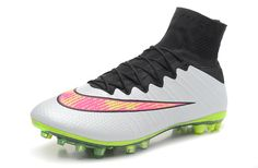 Womens Nike Mercurial Superfly FG True Carbon Substrate White Black $109.99