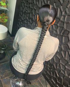 Hair Ponytail Styles, Slick Ponytail, Weave Ponytail Hairstyles, Baddie Hairstyles, Updos Hairstyle, Curly Hairstyles, Black Girl Braided Hairstyles, Braids For Black Hair, Black Girl Braids