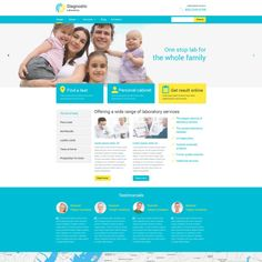 WordPress Template for Diagnostic Laboratory Website