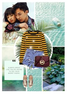 """Peaceminusone"" by lisannevicious ❤ liked on Polyvore featuring Miu Miu, American Retro, Gucci, Michael Kors and NDI"