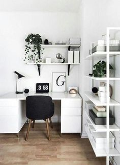 10 Minimal Workspaces to Inspire – From Luxe With Love 10 Minimal Workspaces to Inspire Minimal workspace interior design Study Room Decor, Room Ideas Bedroom, Bedroom Inspo, Design Bedroom, Budget Bedroom, Diy Bedroom, Room Art, Bed Room, Home Office Design