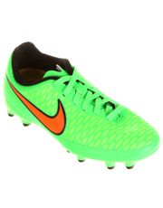 Chuteira Nike Magista Onda FG Campo Infantil - Verde+laranja Netshoes 5420ff0275dd1