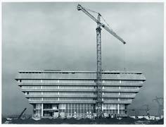 Vue de la préfecture achevée, circa 1970. © Alain Betry, CACP/CDU