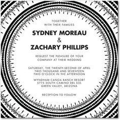 Global Chic - Signature White Wedding Invitations - Pottery Barn - Black : Front