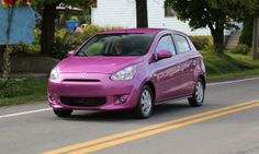 2014 Mitsubishi Mirage drive review front 3-4 purp Photo by: Mitsubishi  This is it. I've found my dream car. Mama like.